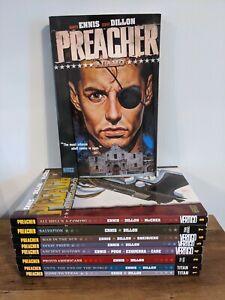 Preacher Volumes 1-9 by Garth Ennis Complete Set Graphic Novels Vertigo Titan