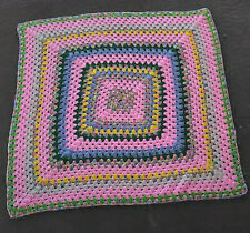 CROCHET Pastel EASTER Springtime 40 x 40 (41 x 41) Afghan BABY Lap Throw BLANKET