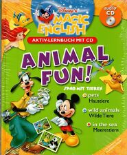 NEU/OVP - Englisch lernen  - Disney's Magic English  -Animal Fun - Lernheft + CD