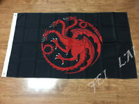 House Targaryen Banner Game Flag Events Decorative Flag Size 90x150cm 3x5FT