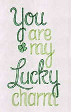 Irish You are My Lucky Charm Flour Sack Kitchen Towel By Gallerie II C & F