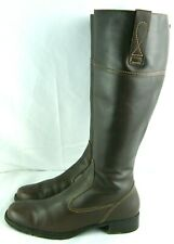 ECCO Tall Brown Leather Side Zip Riding Boots Women's size 40 EU / 9 - 9.5 US