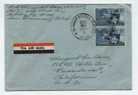 1946 APO 6 cover airmail to CA with 3ct Texas pair [4471]