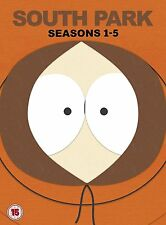 South Park the complete Seasons Series 1, 2, 3, 4 & 5 DVD Box Set R4 New Sealed