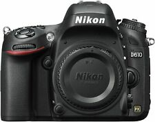 Nikon D610 24.3MP Digital SLR Camera Body - Black