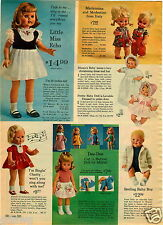 1965 PAPER AD Little Miss Echo Doll Dolls Dee Dee Singin Chatty Mattel's Italy