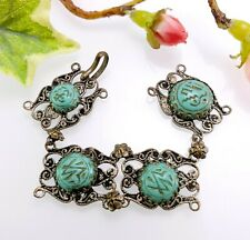 Vintage Egyptian Revival Turquoise Cabochons for Harvesting Jewellery Re-working