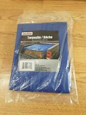 New listing Tool Bench Hardware Blue Lightweight Mesh Plastic Cover Tarp 4x6 Feet Nwt