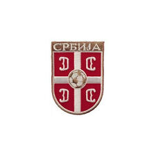 SERBIA FIFA SOCCER WORLD CUP IRON-ON PATCH CREST BADGE 2 X 2.75 INCH