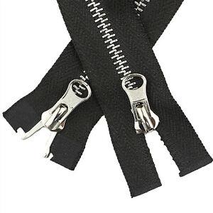 5Pcs Two Way Open End Zip Zipper Metal Teeth for Coat Jacket Heavy Duty 80-120cm