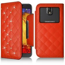Housse Coque Etui Portefeuille Style Diamant Universel L pour Samsung Galaxy Not