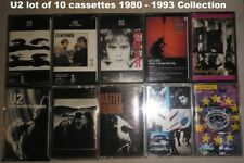 U2 Lot of 10 Cassette Tapes 1980 -1993 Collection Boy October War Joshua Tree ++