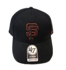 45c27339c58 San Francisco Giants 47 Brand MVP Clean Strap Adjustable Field Black Hat MLB