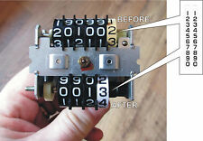 HONDA CBX1000 CB750 CB900 CB1100 SPEEDOMETER 19.3MM MILEAGE TUMBLER WHEEL DECALS