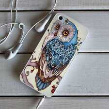 Blue Owl Silicone TPU Case Bumper Cover for iPhone Samsung Huawei HTC Sony LG