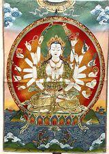 Tibet Buddhism Cloth Silk 1000 Arms Avalokiteshvara Buddha Tangka Thangka mural