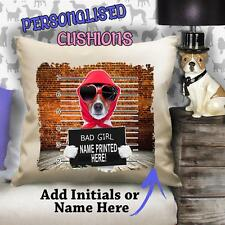Personalised FUNNY JACK RUSSELL Retro Vintage Cushion Canvas Cover Gift ST434