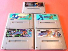 Rock Man Megaman X X2 X3 7 FORTE set 5 Nintendo Super Famicom Japan SNES SFC