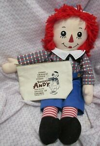 """Classic Raggedy Andy Doll 21"""" (2005) 90th Anniversary  Russ #70425 Tote Japan"""