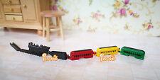 1:12 Dollhouse Miniature Kid's Toy Colored Metal Train & Track Set