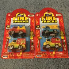 2 Brand New Toy Mini Fire Truck 2 Pack - Damage Cardboard