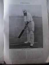 W G Grace Gloucestershire F S Jackson Yorkshire Cricket Rare Old 1896 Plates