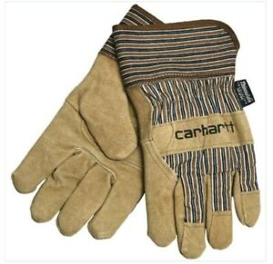 2 pairs/ Carhartt Men's Suede Work Gloves XL