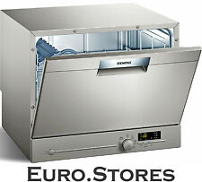 Siemens iQ300 SK26E821EU Compact Dishwasher Table Top Silver Inox Genuine NEW