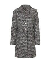 Dannimac boucle coat with peter pan collar uk SIZE 14 brand new ref rail 14