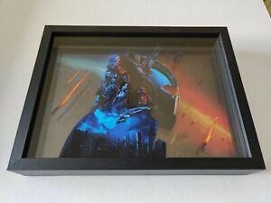 Mass Effect 2 3 Key Art Shadow Box Legendary Edition Collectible Trilogy RARE