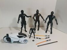 2010 Disney Tron Legacy 7.5� Action Figure Lot Weapons & Kevin Flynn Vehicle