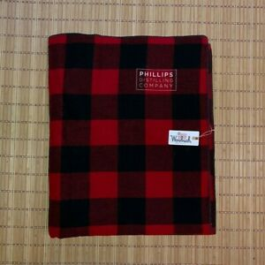 Woolrich Phillips Distilling Company Red Buffalo Plaid Throw Blanket