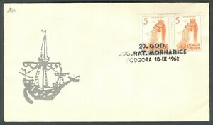 Yugoslavia 1962-09-10, Croatia, Podgora, Navy Anniversary, special cover & postm