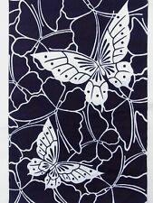 Blue and White Japanese Indigo Butterfly Yukata/Kimono Cotton Fabric