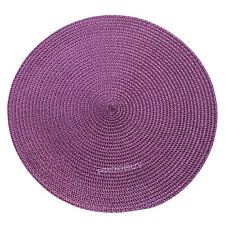 30cm Round Purple Woven Fabric Placemats Dining Room Table Setting Place Mats 8 X Placemats