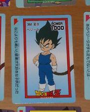 DRAGON BALL Z GT DBZ AMADA PP PART CARDDASS CARD CARTE 352 MADE IN JAPAN **