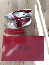 Escarpins chaussures femme cuir Kenzo taille 37 tissu perroquet et cuir