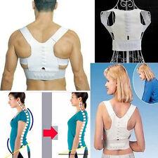 Unisex Adjustable Power Magnetic Back Shoulder Posture Corrector Support Vest UK