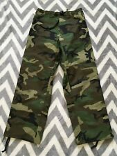 US Army Trousers Cold Weather Woodland Camouflage GoreTex 27-31 waist 28 29 30