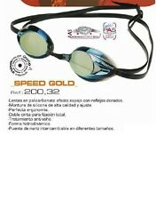 Gafas Natación MOSCONI Speed Gold Antifog Hermético Ajustable Incluye Estuche