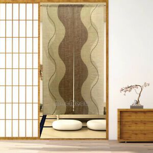 Japanese Noren Door Doorway Hanging Curtain Modern Room Divider Tapestry Drapes