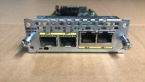 Used Cisco NIM-2GE-Cu-SFP Network Interface Module