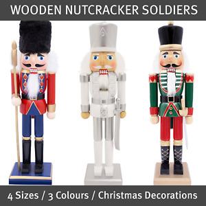 The Christmas Workshop Wooden Nutcracker Soldiers / 4 Sizes & 3 Colours
