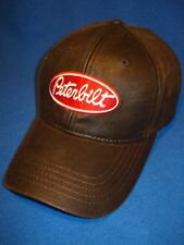 PETERBILT HAT:   Dark Brown Oil Cloth Trucker's Cap / Hat... FREE SHIP IN USA