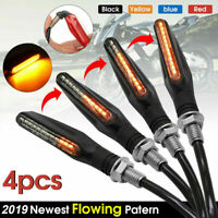 4PCS LED Turn Signal Lamp Flowing Light Universal For BMW Honda Front or Rear