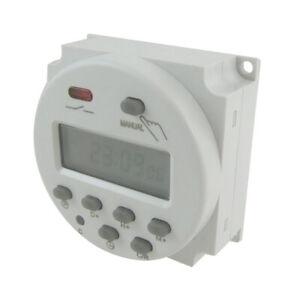 DC12V Digitale LCD Zeitschaltuhr Leistung Programmierbare Zeitschaltuhr Neu DE