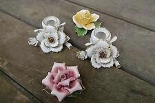 Tisch Dekoration Porzellan Rosen und Kerzenständer über 30 Jahre alt