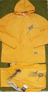 Vintage Rukka PVC 80's Rain/Yacht Suit Coat+Salopettes BNWT West-Germany IEV