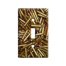 Bullets - Rifle Gun Weapon - Plastic Wall Decor Toggle Light Switch Plate Cover