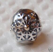 AUTHENTIC PANDORA Snowflake WINTER WONDERLAND Silver/14K Gold CLIP Charm~Bead